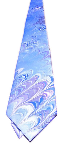 Marbled fabric silk tie